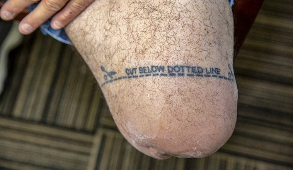 Veteran, Dave Nelson shares his tattoo