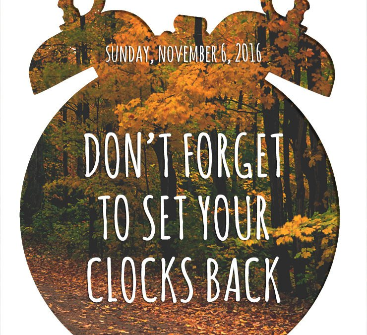 Time to Set The Clocks Back – Daylight Saving Time