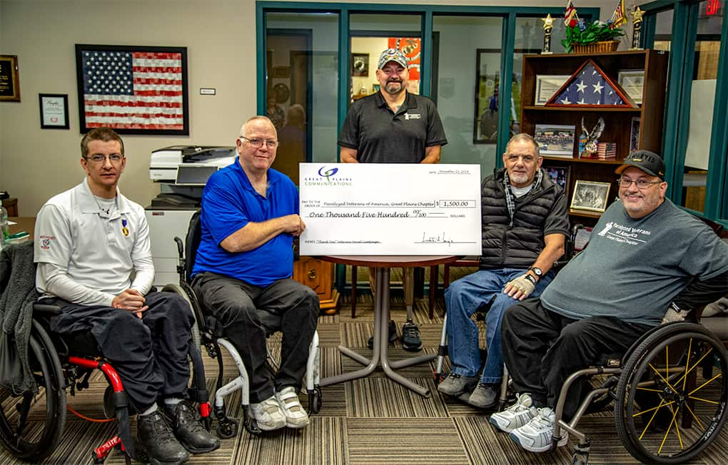 A Donation to the Paralyzed Veterans of America, Great Plains Chapter